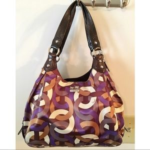 AUTHENTIC COACH Madison Maggie chain link purse 💜